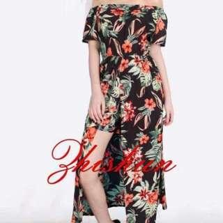 (cd) Chiffon summer dress fits S-L