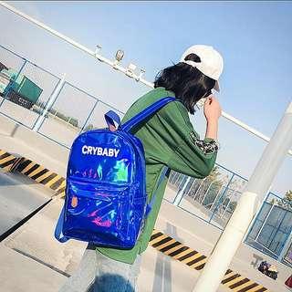 <P.O> Crybaby Korean Ulzzang Harajuku Holographic Backpack Bag