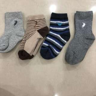 4sets Boy Socks (2-3 years)