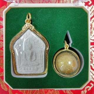 1 Set Phra Khun Paen (White) Phong Prai Kuman & Look Ohm Prai Kuman, LP Koon Wat Banrai
