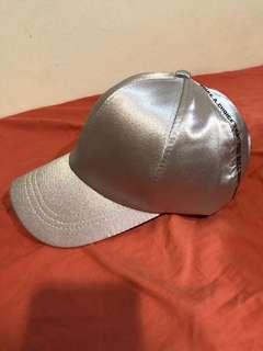 Silver cap.