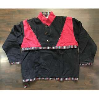 Authentic Nepali Woolen Pullover (red&black) - handmade, custom-made