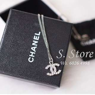 Chanel classic necklace 閃石水鑽頸項
