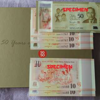 (C) SG50 Commemorative notes (Special endings numbers)