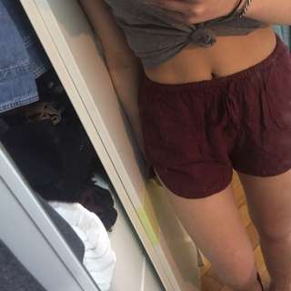 Brandy Melville maroon shorts (OP: $120)
