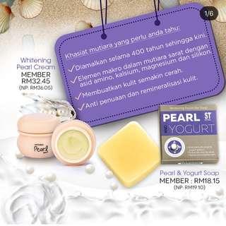Pearl & yogurt soap