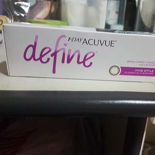 1-day acuvue define (3.75 degree)
