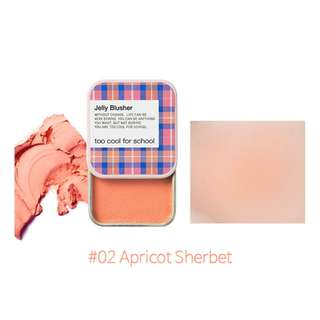 Jelly Blusher - 02 Apricot Sherbet, 8g from Too Cool for School