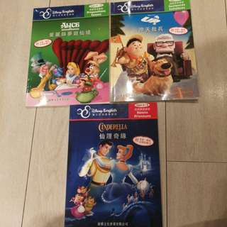 Three Disney English story book with CD
