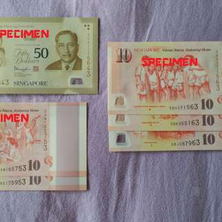 (A) SG50 Commemorative notes (Special endings numbers)