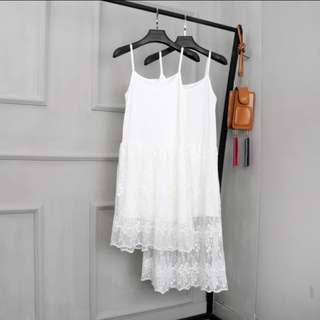 (PO) White Lace Dress (short/long)