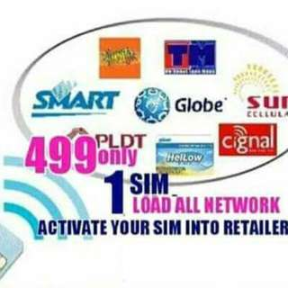 One sim,one phone load allnetworks