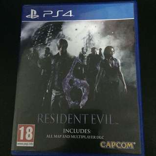 PS4 Resident Evil 6 (Used but excellent condition)
