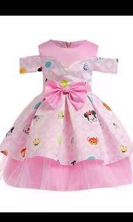 PO Tsum Tsim wedding /birthday off shoulder dress brand new size 100-150cm