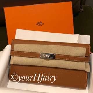 Hermes Kelly Wallet Gold