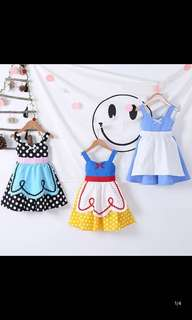 PO Snow White dress set size 90-130cm brand new