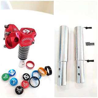 ***In-Stock = Dualtron Stem Extender Length Adaptor With Top Cap, Stainless Steel Screw, 7 Spacer
