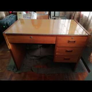 Antique Office Desk with Drawers