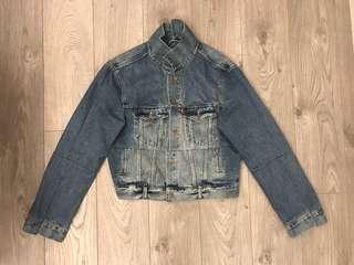 Levi's x Vetements reworked cropped denim jacket