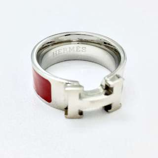 Hermes Red Enamel Ring Replica