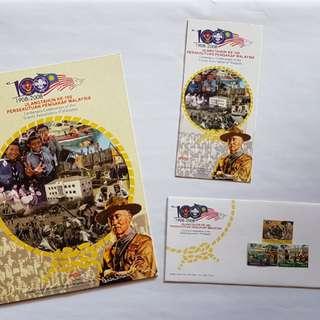 Setem folder Ke-100 Pengakap Malaysia 2008