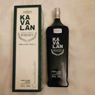噶瑪蘭山川首席單一麥芽威士忌1000ml. KAVALAN Single Malt Wisky