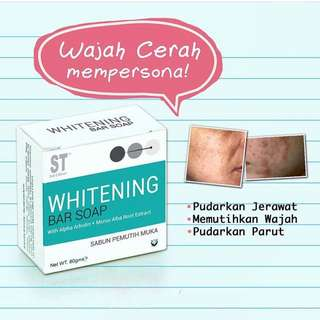 Whitening bar soap