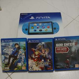 Ps Vita + 3 games included