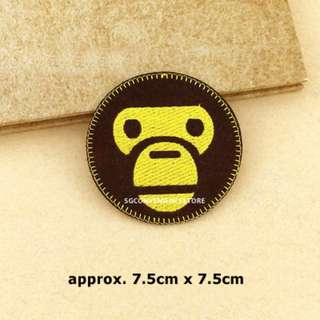 Baby Milo Head DIY Fabric Embroidery Iron On Patch Applique Motif Badge Decal