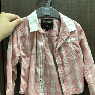 Poney Pink Checked Shirt with Collar