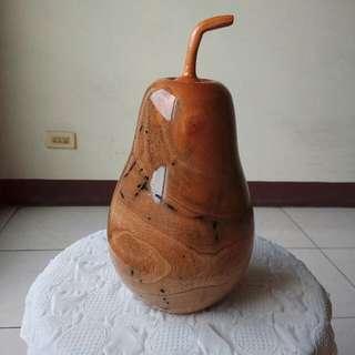 桃花心木瓠瓜 (1 福瓜 匏瓜 實木雕刻品 工藝品 藝術品 裝飾擺飾 葫蘆 聚寶盆 黃檜木 肖楠 龍柏 桃木 黃花梨木)