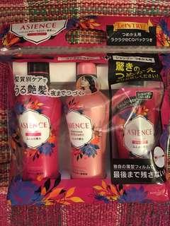 Asience 洗頭水+護髮素+洗頭水補充裝1包