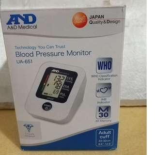 日本AND血壓器/機,99%新,原價499