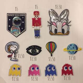 Iron On Patches - Assorted