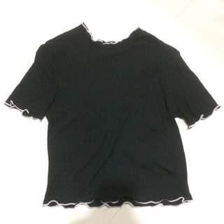 Zara Black Crop