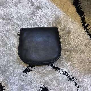 Grey mini cross-body bag