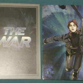 The War Photocard with Baekhyun at the back