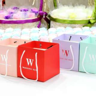 PO Simple Square Wedding Day Bag Favor Carrier