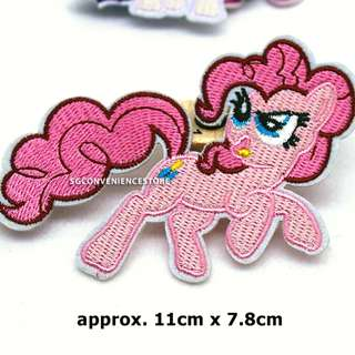 Little Pony DIY Fabric Embroidery Iron On Patch Applique Motif Badge Decal - Pinkie Pie