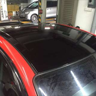 (PROMO) gloss black roof wrap