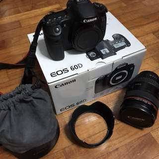 Canon 60D body and 24-105 lens