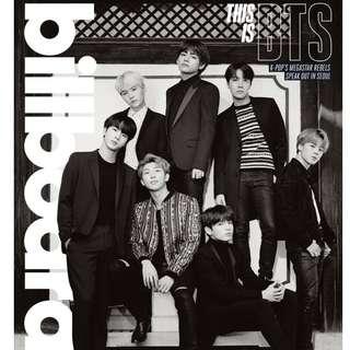 BTS Billboard Limited Edition Magazine+Poster
