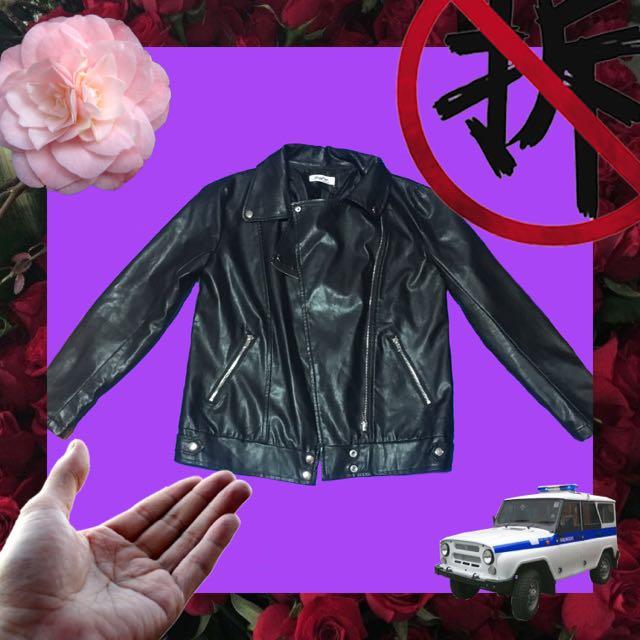 🚧特價🉐️黑色皮風外套🏁