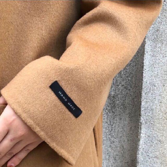 韓國手工羊毛大衣外套