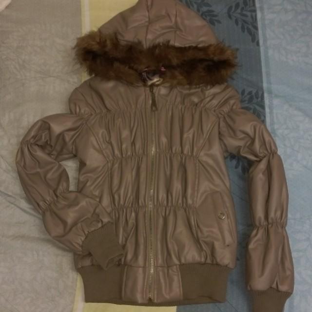 全新皮革超保暖外套