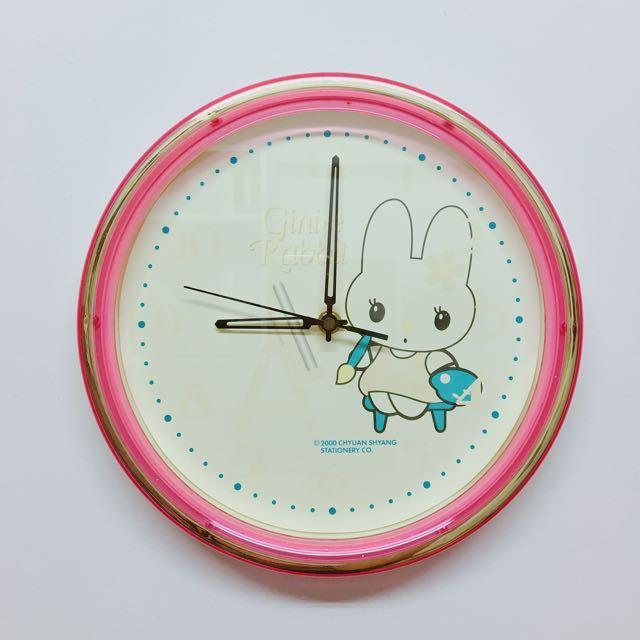 可愛 兔 時鐘🕤