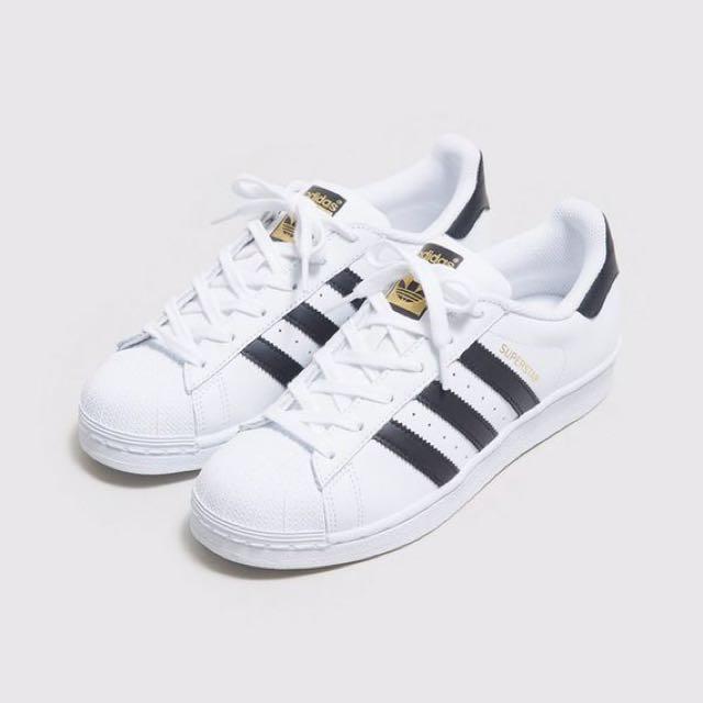 現貨來台 全新愛迪達金標Adidas originals superstar 22.5cm女鞋
