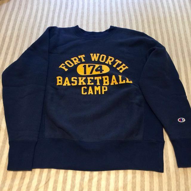 日本版 champion 衛衣 大學T 復古 古著 90s Ivy 字母 運動服 刷毛 重磅 學院