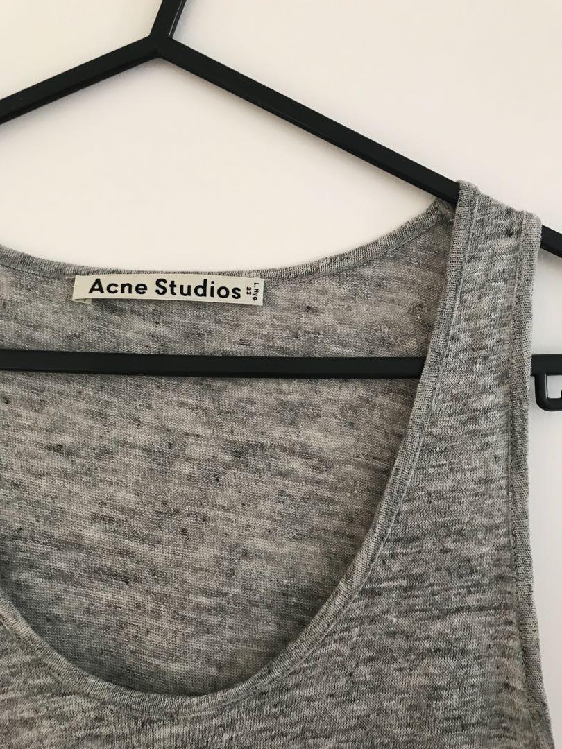 Acne studios tank top grey