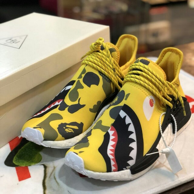 premium selection 6b20b daf3e ADIDAS NMD Human Race R1 x Pharrell Williams x BAPE
